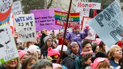 See signs and what people are sharing at the 2018 Women's March Michigan
