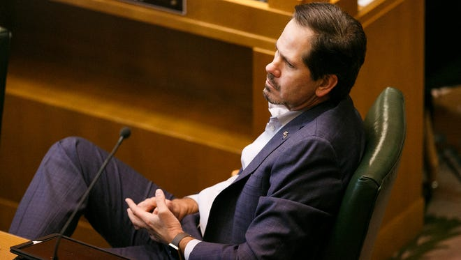 Rep. Knute Buehler, R-Bend, as lawmakers work to close out the short legislative session on Saturday, March 3, 2018.