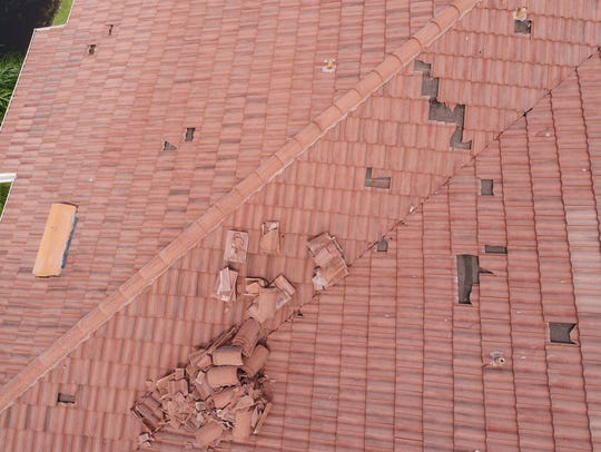 Naples Drone Solutions documented this damaged roof