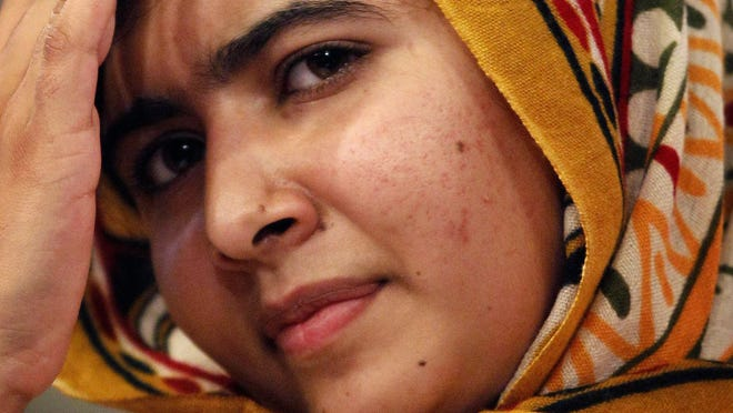 Malala Yousafzai, 16, attends award ceremony of the International Children's Peace Prize at the Ridderzaal in the Hague, the Netherlands, in September.