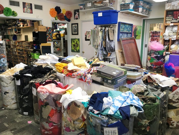 At Turnip Green Creative Reuse Center in East Nashville,
