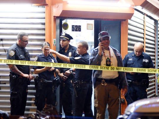 The scene where Lesandro Guzman-Feliz,15, was fatally stabbed inside of 526 E183rd Street in the Bronx, NY around 12 a.m. on June 21, 2018.