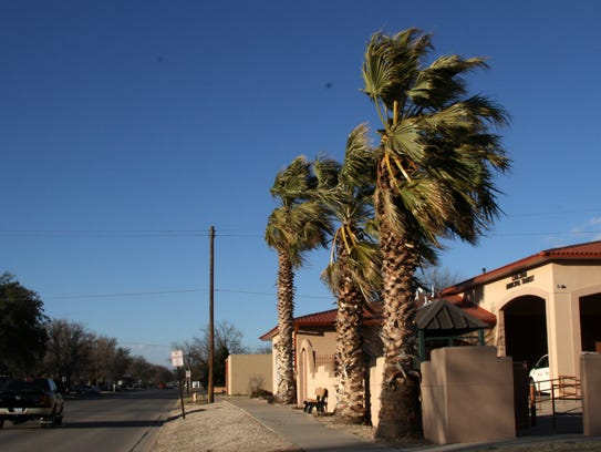 Winds in Carlsbad reached gusts up to 65 miles per