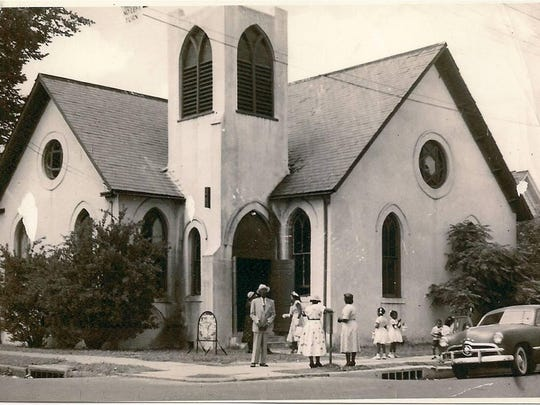 This was the Newman United Methodist Church building when it was located at 618 Murray St. in Alexandria. The church was founded in a wooden-frame building there in 1865, and it was rebuilt at that location in 1902. It moved to another downtown location in 1955.