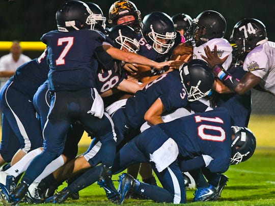 The Rossville Christian Academy Wolfpack takes down the visiting West Memphis Christian Knights. Seven of the Wolves got a piece of the visiting Black Knights during Friday nights gridiron football.