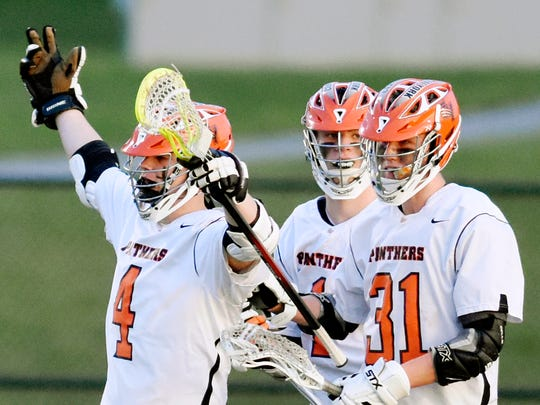 Central York's T.J. Ross, left, and Connor Hoch, right,