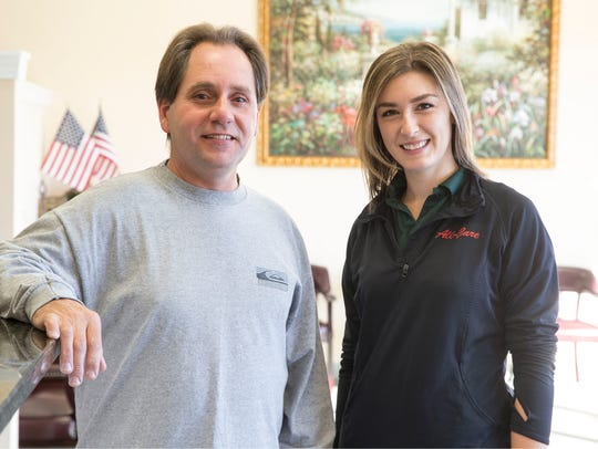 Brick mailman Gary Nodes with Freehold physical therapist