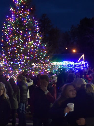 About 300 people attended the Christmas tree lighting