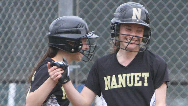 Nanuet defeated Somers in the first game of the John Sullivan Tournament at Clarkstown North High School in New City April 22,  2017.