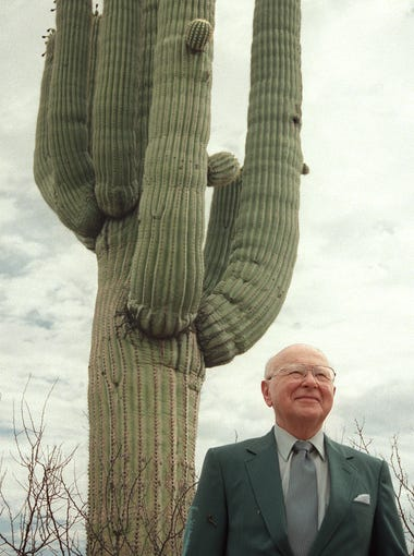 Former University of Arizona president Dr. Henry Koffler at Academy Village in  Tucson in June of 2000. Koffler died in March of 2018.