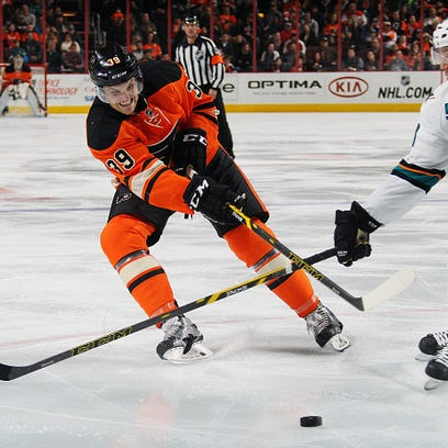 Defenseman Mark Alt attempted six shots in his NHL debut against the San Jose Sharks.