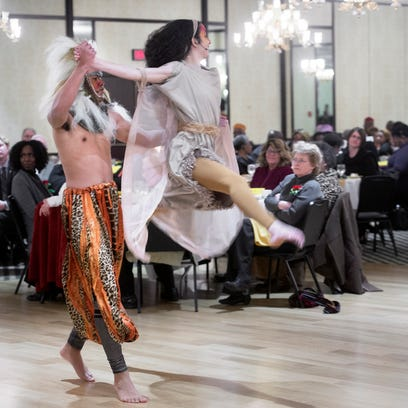 Dancers perform a dance except from The Lion King,