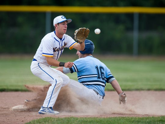 Germantown's Jonathan Wizner attempts to get Nicolet's