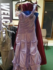 Some of the donated prom dresses that will be available