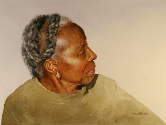 """Catherine"" is a watercolor by Patricia Billeci of"