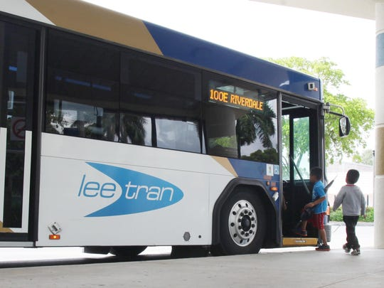 Some LeeTran passengers worry a proposed day pass increase of 50 cents could hit their budgets hard. Passengers board the bus at the station in downtown Fort Myers on Tuesday.