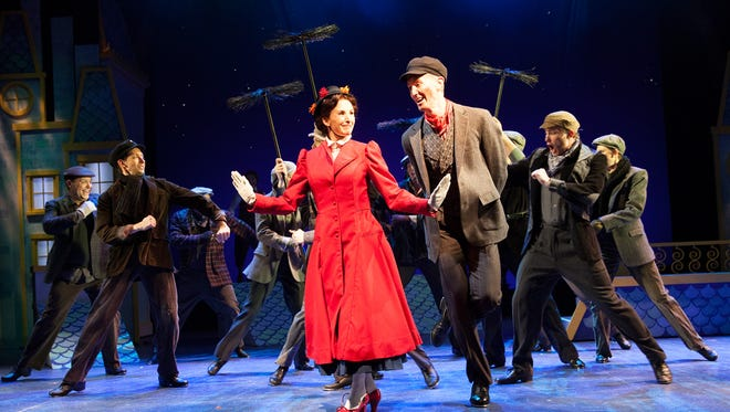 """Phoenix Theatre's production of """"Mary Poppins"""" stars Trisha Hart Ditsworth in the title role and Toby Yatso as Bert the chimney sweep."""