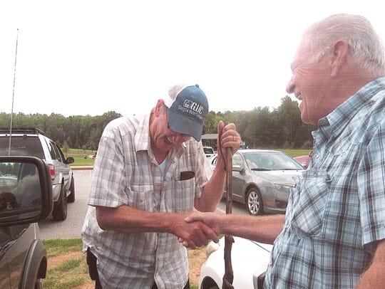 "Thomas Belue (left) and Carl ""Sonny"" Payne reunited"
