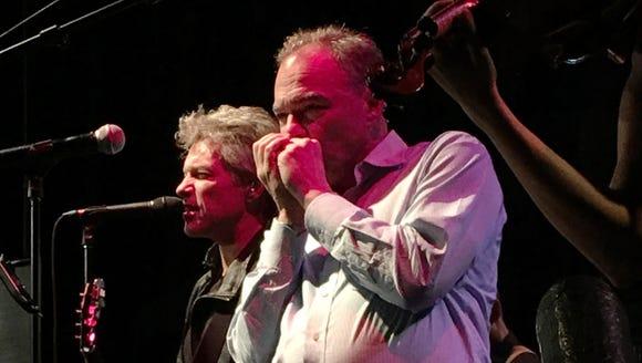 Tim Kaine, plays the harmonica alongside Jon Bon Jovi