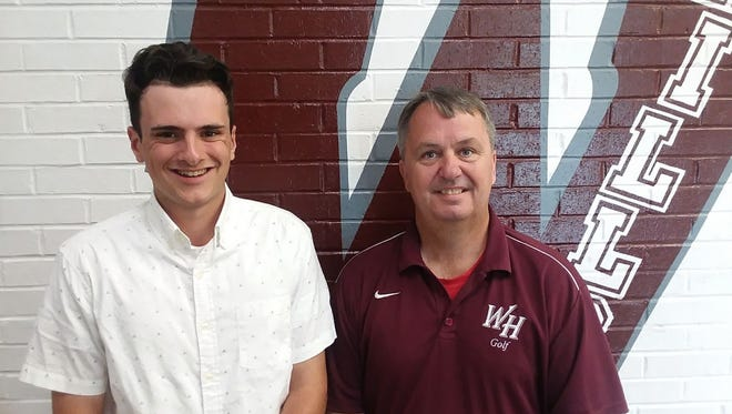 Rob McHugh and Wayne Hills golf coach Mark DuBois.