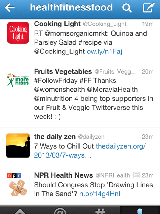 Follow health and fitness accounts on Twitter to get inspiration to change up your wellness routine.