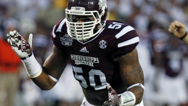 Mississippi State linebacker Benardrick McKinney had an up-and-down day at the NFL Combine on Sunday.