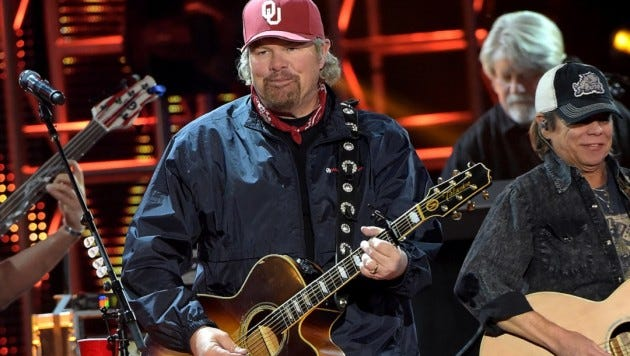 Country music superstar Toby Keith is playing at the Denny Sanford Premier Center on Saturday evening.