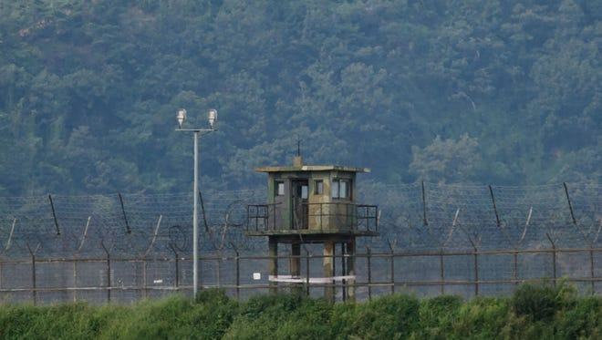Seoul had been blasting propaganda messages and K-pop songs from border loudspeakers since the North's fourth nuclear test in early 2016.