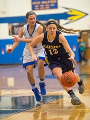 Greencastle-Antrim's Heidi Schanzenbacher (12) drives