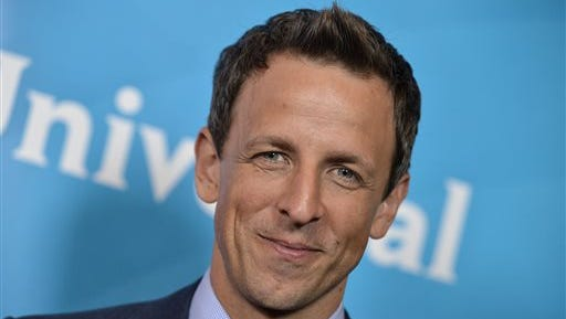 Seth Meyers is pictured at the NBC 2014 Summer TCA held at the Beverly Hotel in Beverly Hills, Calif. Meyers will serve as master of ceremonies when ?The Prime-Time Emmy Awards? airs Monday at 7 p.m. on NBC.