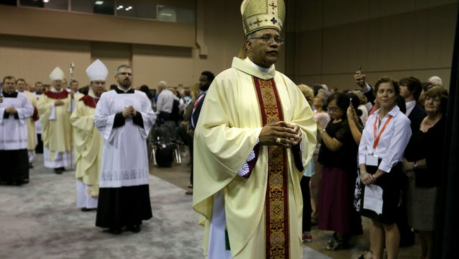 The Most Rev. Martin D. Holley enters his Solemn Installation to appoint him Fifth Bishop of the Diocese of Memphis, Tennessee held at the Cook Convention Center.