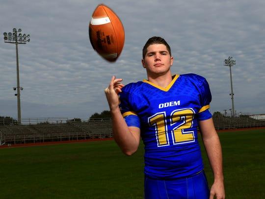 All-South Texas Football MVP Michael Everett from Odem High School.