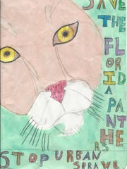 """Leiranis Reyes took first place in the 9-10 category of 12th Annual Children's Art Contest """"Coloring the Earth."""""""