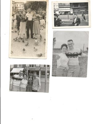 Collected photos reveal a look back at love and history. Pictured are, top left - Vickie, Ron and Mollie; top right - Mollie on the left, background Jacqueline; bottom right - Mollie with Eddie; bottom left - Eddie, Mollie, Marilyn and Tony.