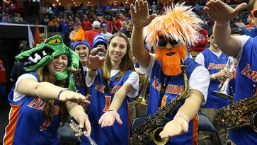 Florida faithful cheered on as the Gators advanced to the Final Four.