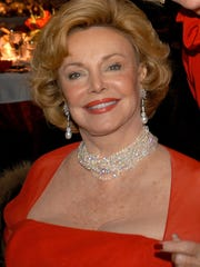 Barbara Sinatra with Nelda Linsk at the Frank Sinatra Celebrity Golf Tournament Gala in Indian Wells.