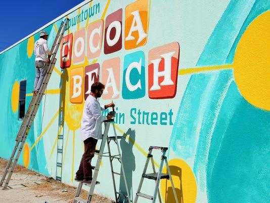 Cocoa Beach mural