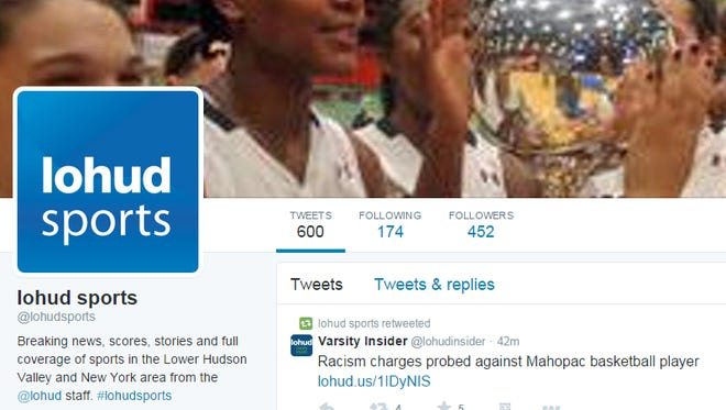 Screen shot from the @lohudsports Twitter page.