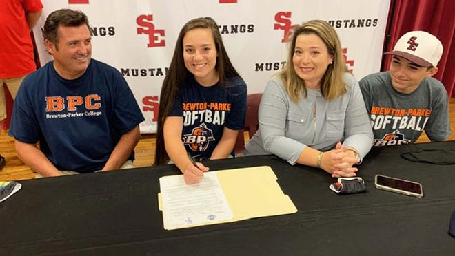 South Effingham graduate Chloe Strickland recently signed a letter of intent to play softball at Brewton-Parker College.