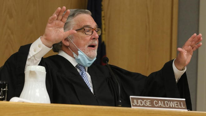 Superior Court Judge Jesse B. Caldwell speaks in his courtroom at the Gaston County Courthouse Tuesday morning, Oct. 6, 2020. Gaston County is formalizing plans to resume jury trials in January. Jury trials have been on hold amid the coronavirus Covid-19 pandemic.