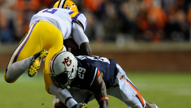 Auburn defensive back Brandon King saw his first action on defense this season against LSU.