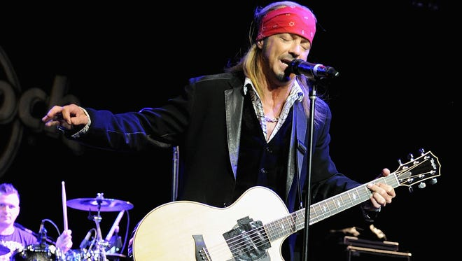 Bret Michaels performs at the Sing For Your Supper Campaign Launch at Hard Rock Cafe New York on April 15, 2014 in New York City.