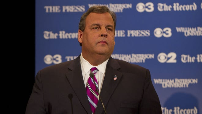 New Jersey Gov. Chris Christie appears during a gubernatorial debate on Oct. 8, 2013.