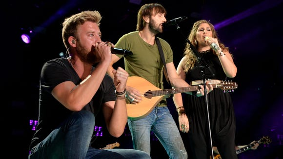Lady Antebellum performs at the 2014 CMA Festival earlier this year in Nashville.