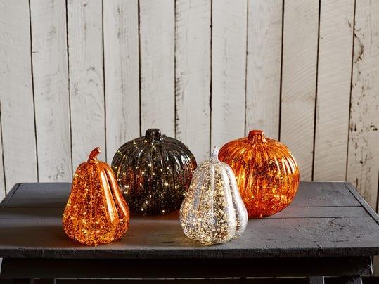 Homes-Right-No-Carve Pumpkin Decor