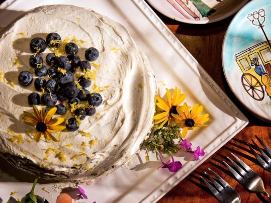 Blueberries + zucchini = awesome cake