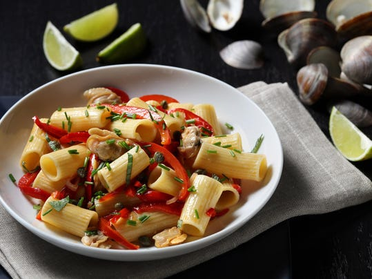 Steamed clams over pasta captures summer vacation memories