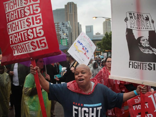 "Activists Hold A ""March To McDonald's"" To Push For $15 Wage In Chicago"