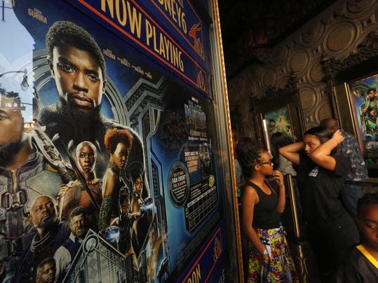 'Black Panther' flexes its might in Los Angeles
