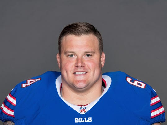 """FILE - This is a 2017 file photo showing Richie Incognito of the Buffalo Bills NFL football team. Bills offensive lineman Richie Incognito texts The Associated Press he's """"done,"""" amid reports he is considering retirement after 11 NFL seasons. Incognito followed up the text on Tuesday, April 20, 2018, with a laughing-face emoji and did not respond to further questions seeking clarification. (AP Photo/File)"""